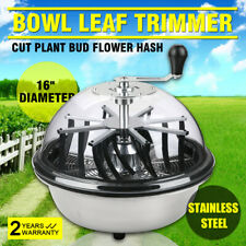 More details for hydroponics trimmer bowl leaf spin pro stainless tumble bud machine 16