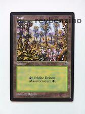 WALD - MAGIC THE GATHERING KARTE - MIRAGE - DEUTSCH GERMAN - 1996 - FOREST