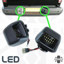2xLED Rear bumper License number plate lights for Nissan Navara D40 lamp bulb