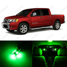 12 x Green LED Interior Light Package For 2004 - 2013 Nissan Titan