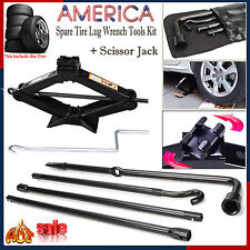 Tools Kit Spare Tire Lug Wrench W/ 2 Tonne Scissor Jack For Ford F150 (04-2012 )