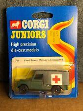 Vintage Corgi Juniors   79   Land Rover Military Ambulance   On Card   Good