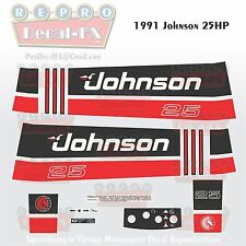 1991 Johnson 25 HP Sea-Horse Outboard Reproduction 11 Pc Marine Vinyl Decals