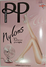 Pretty Polly Large Size Sheer 10 Denier Glossy Tights From The Nylons Range