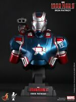 HOT TOYS Iron Man 3 Iron Patriot 1/4 LED Bust IN STOCK