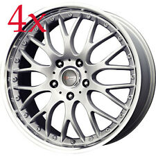 Drag Wheels DR-19 17x7.5 5x114.3 +45 Silver Rims For Mazda6 Mazda3 Eclipse Rsx