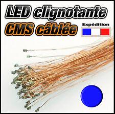 C138B# LED CMS 0805 clignotante bleu- pré cablé fil émaillé  SMD blue