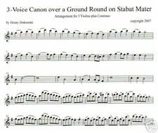 PDF & MP3: Canon on Stabat Mater for Accordion Quartet