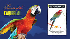 Grenada 2011 MNH S/S, PARROTS OF CARIBBEAN, Birds, Red & Green Macaw