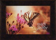 ENJOY THE JOURNEY by Kathy Jennings 17x23 FRAMED PICTURE Butterfly Flowers