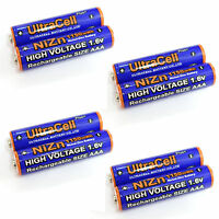 8 x 1150mWh AAA NiZn 1.6V Volt Rechargeable Battery 3A LR03 HR03 Ultracell Blue