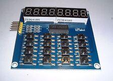 8- 7 Segment LED Plus16 button TM1638 Key Display, for Arduino, UK stock