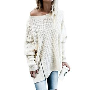 Women Crew Neck Loose Batwing Long Sleeve Tunic Length Casual Blouse Plus Tops