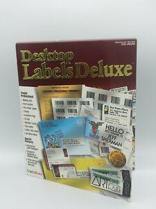 Compu Works Desktop Labels Deluxe for Windows 95/98  CDROM Media 1998 * NOS *