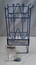 New ECOLAB Wire Caravan Rack / Sanitation Station for Cleaning/Bathroom Supplies