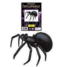 LARGE SPIDER 91CM INFLATABLE BLOW UP BLACK  HALLOWEEN HUGE PARTY PROP DECORATION