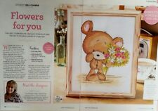Cross stitch chart - cookie Bear -  Flowers for you - from a magazine