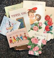 Lot of 20 Used Vintage Greeting Cards Different Occasions