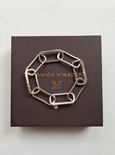 New Monica Vinader Alta Capture Large Link Charm Sterling Silver