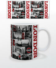 LONDON RED COLLAGE 11 OZ COFFEE MUG TEA CUP UK ENGLAND CAPITAL ESSEX SURREY KENT