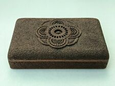Fine Indian Exquisitely Intracately Carved Sandalwood Box 20 cms Antique Wooden