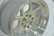 "RPM QS223 15"" Inch 4x100 4x114.3 15x8 Polished Alloy Wheels"