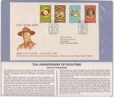 (K74-36)1982Zimbabwe FDC scouting anniversary British Comm summerCollection (AK)
