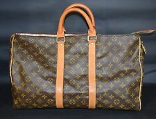 AUTHENTIC LOUIS VUITTON VINTAGE MONOGRAM KEEPALL 45 TRAVEL DUFFLE BAG LUGGAGE