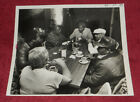 Vintage Press Photo Unidentified Mayor & Other Patrons Sit At Restaurant Table