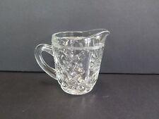 SMALL VINTAGE STYLE HEAVY GLASS MILK JUG/CREAMER WITH DIAMOND PATTERN