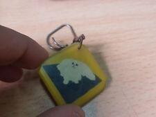rare vintage Persian Cat Keychain Key ring old plastice vtg 60s'