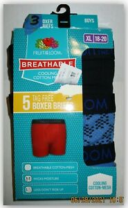 Fruit of the Loom boys XL 3 PR  breathable cooling cotton mesh Wicks no ride up