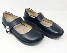 Alegria Black Leather Paloma Mary Jane Comfort Shoes Button Strap PAL-601 Sz 10W
