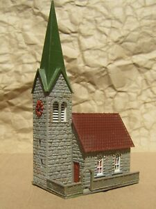 CLASSIC ~ TOWN CHURCH by FALLER ~ Mayhayred Trains N Scale Lot
