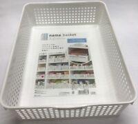 4pc Multi-purpose Plastic White Storage A4 Basket Name Organiser Tubs Japan Made