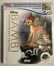 NEW DISNEY BAMBI BLU RAY DVD + DIGITAL HD TARGET EXCLUSIVE DIGIBOOK & LITHOGRAPH