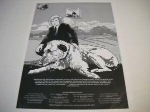 VAN MORRISON Oct/Nov 1974 VEEDON FLEECE Tour/dates/cities/venue Promo Poster Ad
