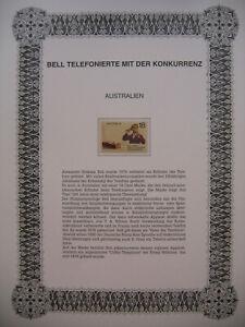 Irrtümer auf Briefmarken / Australia 1976 Australien Mi 598 : Telefon - Bell