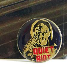 Rare Vintage Pin Metal Pinback 1980s Metal Rock Enamel Quiet Riot Round 2