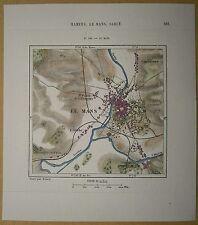 1877 Perron map LE MANS, FRANCE (#158)