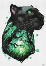Panther Tier  Einmal Tattoo Wald Temporary Tattoo Temporäre Tattoo Body Sticker
