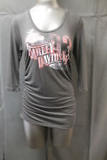 "Harley-Davidson Ladies ""Eagle Wings"" Long Sleeve Shirt Size: L MPN:H94H-L"