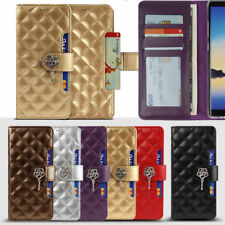 Rose Cubic Wallet Case für Samsung Galaxy Note10 Note10+ Plus Note9 Note 8 Note5