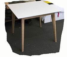 Otto 900x900 Square White Timber Dining Table - BRAND NEW