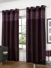 Hamilton McBride Glitz Purple Ring Top / Eyelet Fully Lined 90 x 72 Curtains