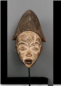Old Tribal  Punu Maiden Spirit   Mask    --- Gabon