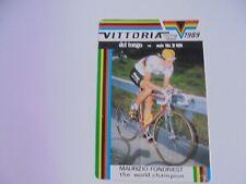 wielersticker  1989  team del tongo  maurizio fondriest