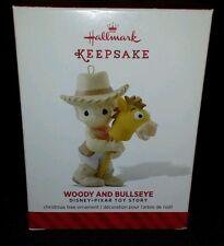 2014 Hallmark Woody and Bullseye Precious Moments Toy Story Ornament New!!!
