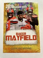 Baker Mayfield 2018 Cracked Ice Gold Limited Edition Rookie. Cleveland Browns