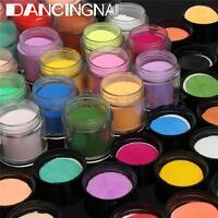 24 Color 3D DIY Jumbo Fine Shiny Glitter Acrylic UV Powder Dust Tip Nail Art Kit